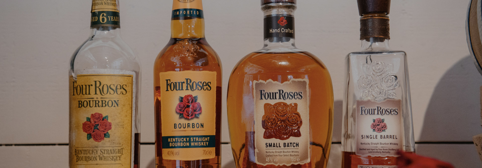 four roses yellow label small batch single barrel whiskey bourbon ουσκι