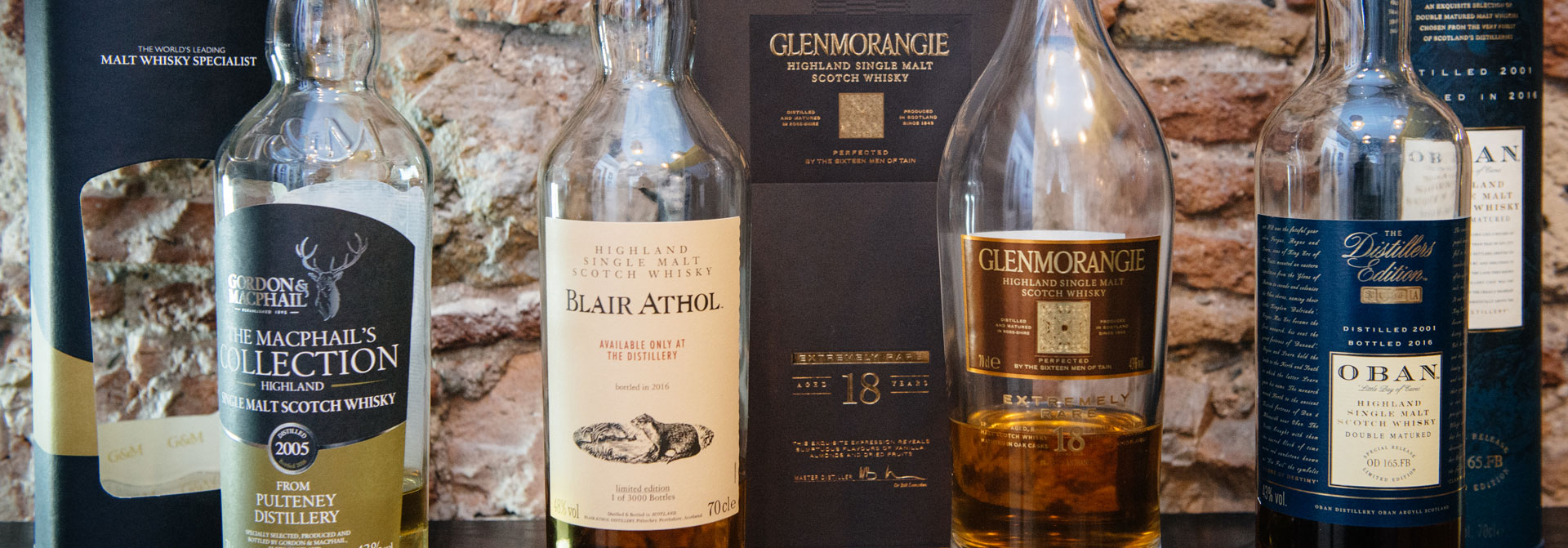 the tasters club highlands whisky tasting blair athol glenmorangie oban pulteney gordon and macphail avalon