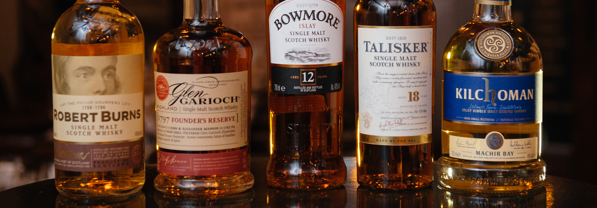 the tasters club whisky tasting robert burns arran glengarioch bowmore talisker kilchoman avalon