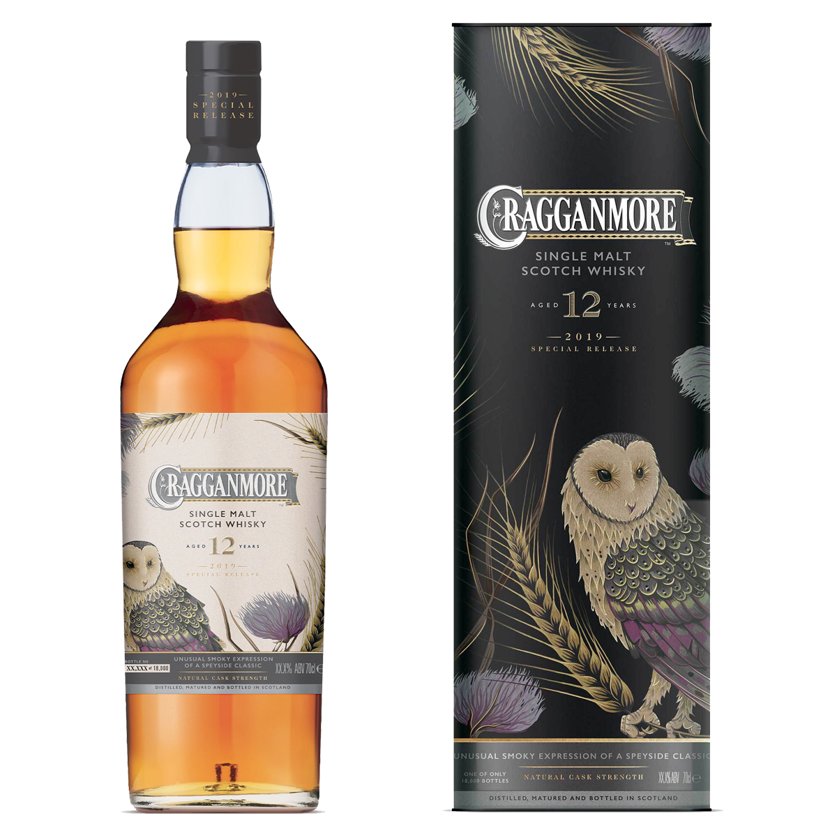 Rare By Nature whisky collection special releases 2019 CRAGGANMORE 12