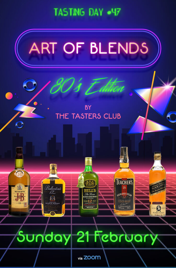 the tasters club tasting blended whisky J & B Ballantine's Bell's Teacher's Johnnie Walker