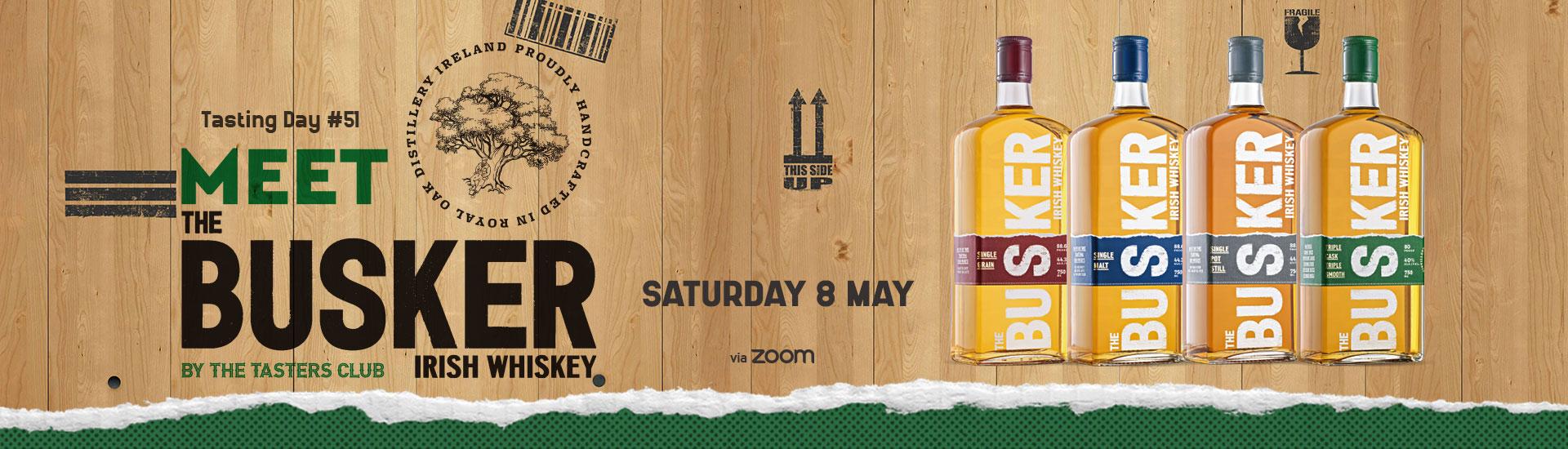 the tasters club busker irish whiskey tasting