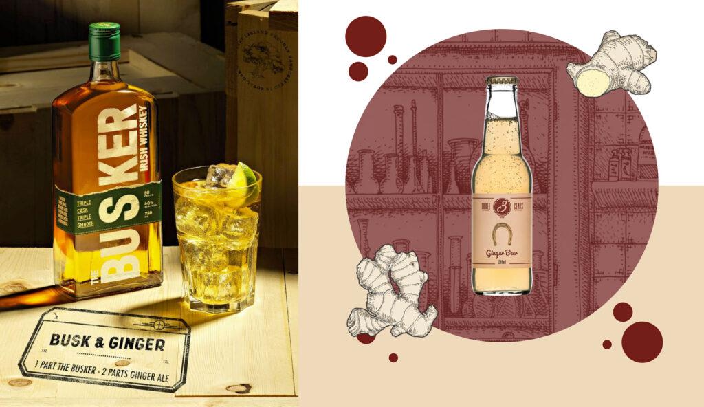 busker whiskey cocktail busk ginger beer 3 cents
